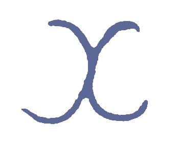 back to back letter C