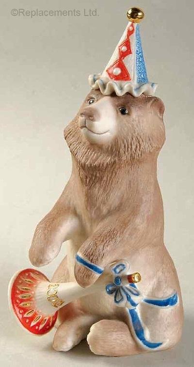 BARNABY THE BICENTENNIAL BEAR in brown by Cybis