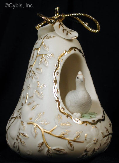01 PARTRIDGE IN A PEAR TREE holiday ornament by Cybis