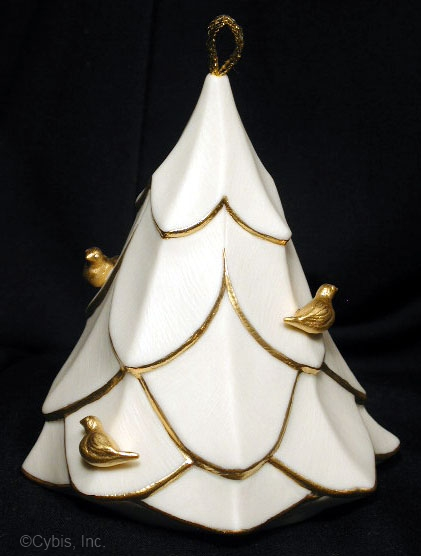04 FOUR CALLING BIRDS holiday ornament by Cybis