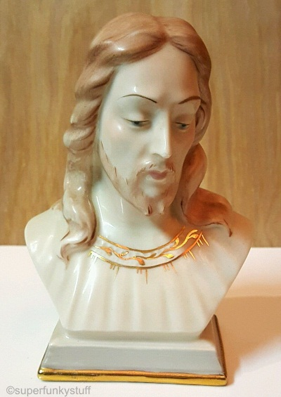 JESUS BUST circa 1950s by Cybis from Holland Mold Company mold