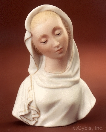 circa 1989 MADONNA bust in white and gold by Cybis
