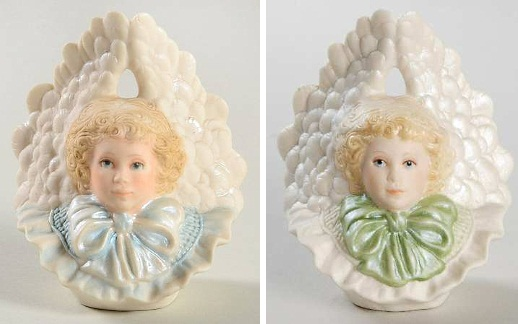 1986 Cybis Angel Ornament in two colorways