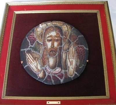 porcelain mosaic JESUS PLAQUE by Marja Cybis