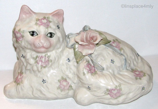 Cordey cat with roses example 1