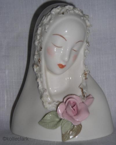 glazed MADONNA with rose circa 1950 by Cybis
