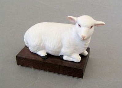 BABY LAMB ON BASE by Cybis 1960 to 1962