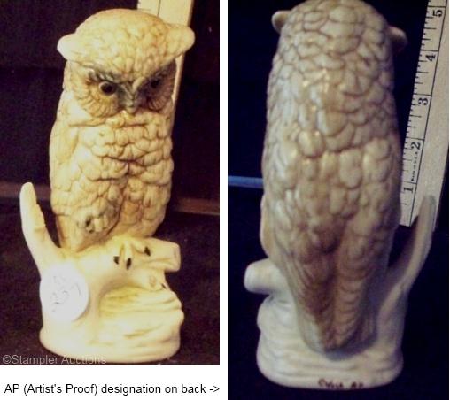 BABY OWL artist proof in brown by Cybis