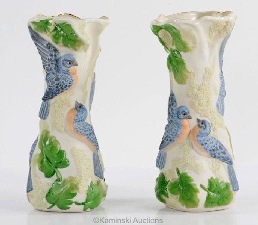 BLUEBIRD OF HAPPINESS VASE by Cybis