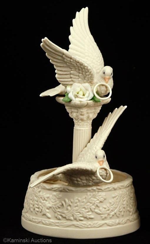 BRIDAL CENTERPIECE in white bisque by Cybis