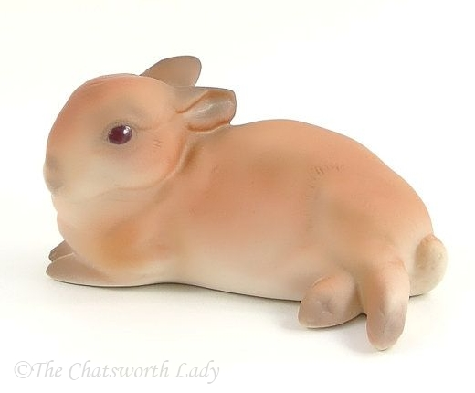 BUNNY JELLYBEAN in special brown decoration by Cybis