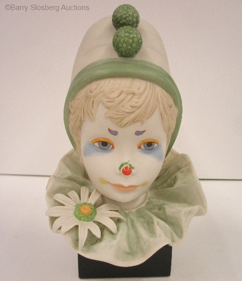CHILD CLOWN HEAD FUNNY FACE green special edition by Cybis
