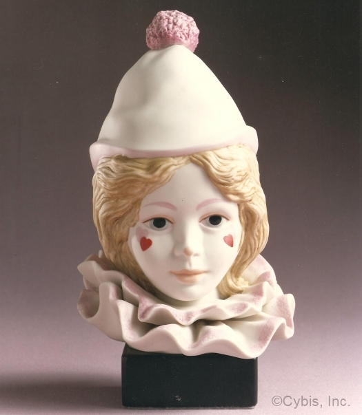 CHILD CLOWN HEAD VALENTINE by Cybis
