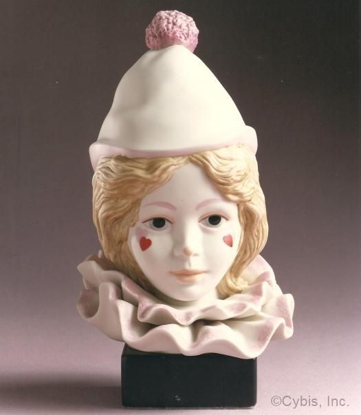 CHILD CLOWN HEAD VALENTINE by Cybis