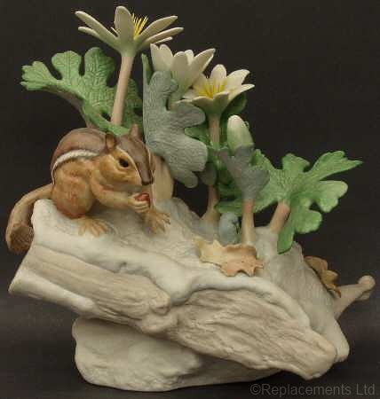 CHIPMUNK WITH BLOODROOT by Cybis
