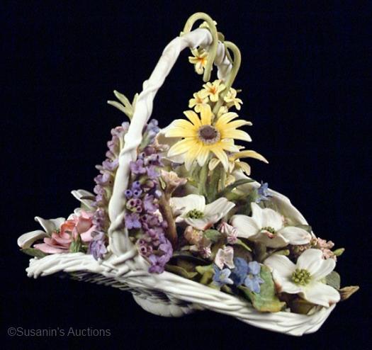 COLONIAL FLOWER BASKET by Cybis