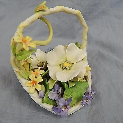 CONSTANCY flower basket by Cybis