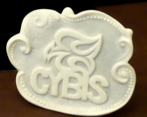 Cybis dealer sign 1980s freeform white bisque