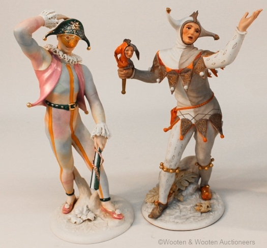 Cybis HARLEQUIN and COURT JESTER