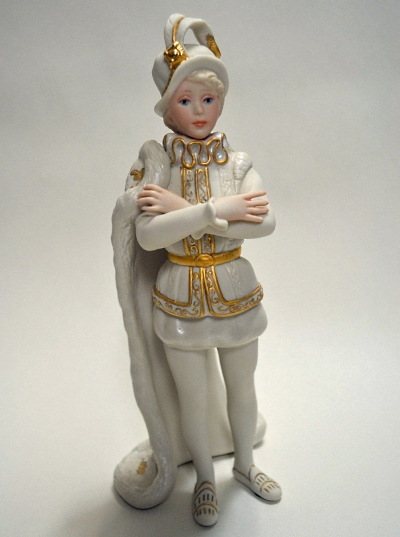 Cybis Prince in white with gold