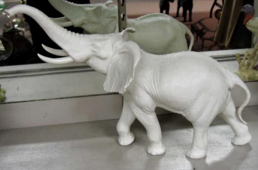 ELEPHANT in white by Cybis