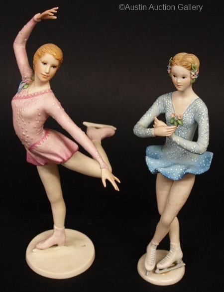 Encore and A Star is Born figure skaters by Cybis