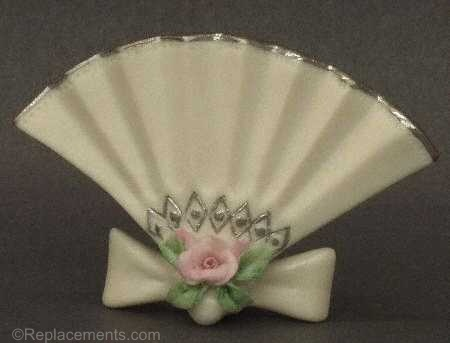 Fan Place Card Holder in white by Cybis