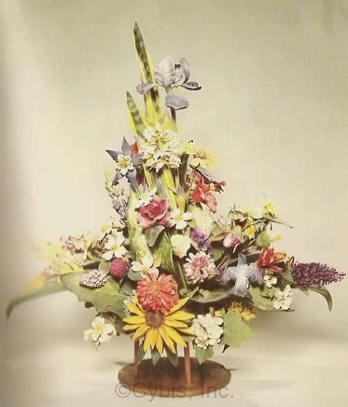 FLOWER BOUQUET OF THE UNITED STATES by Cybis for the 1964 Worlds Fair