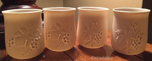 grapevine candle cups by Cybis
