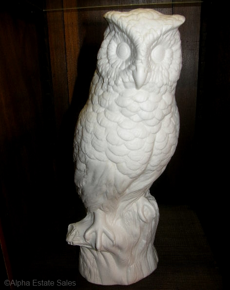 GREAT HORNED OWL in white bisque circa 1950s by Cybis
