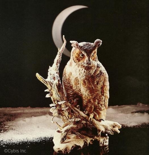 GREAT HORNED OWL KOOS KOOS KOOS in color by Cybis