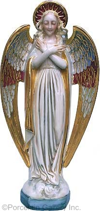 Guardian Angel in color by Cybis ca 1950s example 2