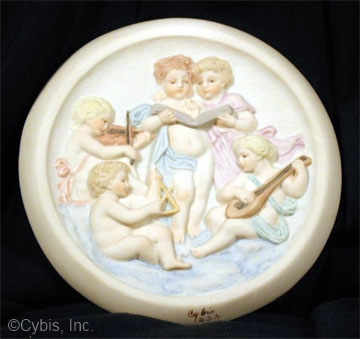 HEAVENLY MUSIC PLAQUE by Cybis