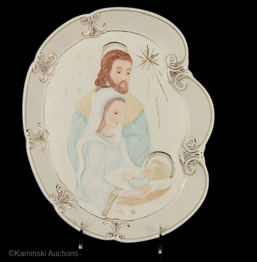 HOLY FAMILY PLATE by Cybis