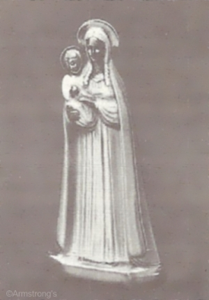 madonna and child with gold skin by Cybis
