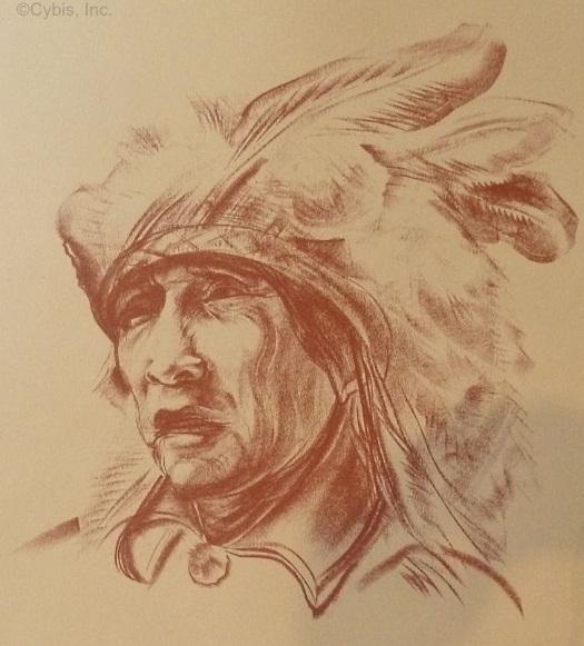 INDOMITABLE SPIRIT Comanche chief portrait by Cybis Folio One