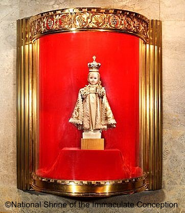 Infant of Prague at Immaculate Conception Basilica