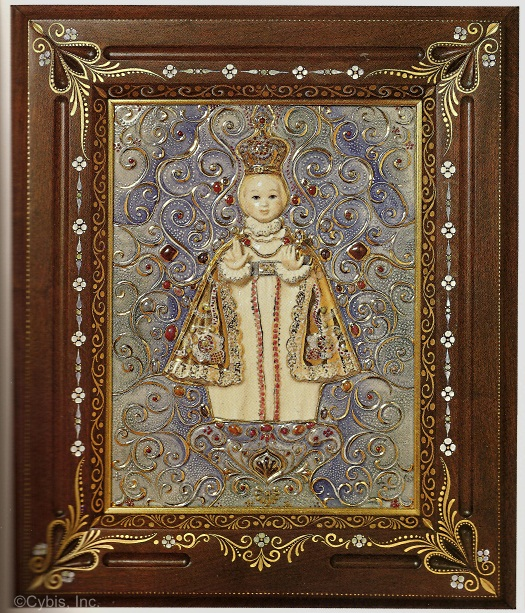 Infant of Prague Plaque 1979 by Cybis