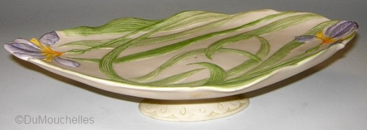 IRIS FOOTED DISH by Cybis