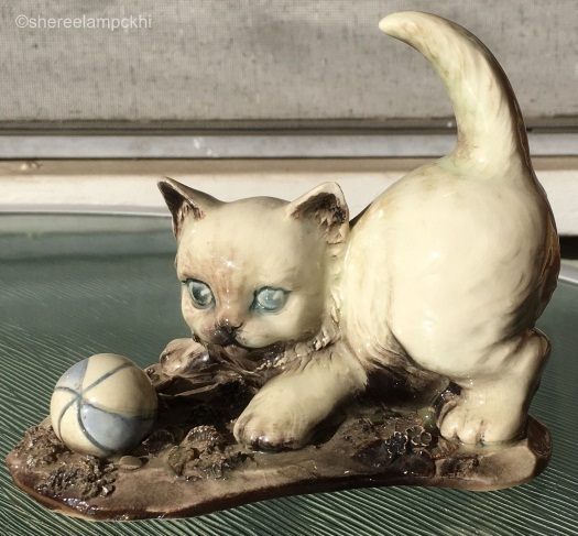 kitten with ball by CYBIS circa 1950s view 1