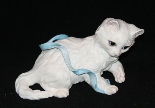 KITTEN WITH BLUE RIBBON by Cybis