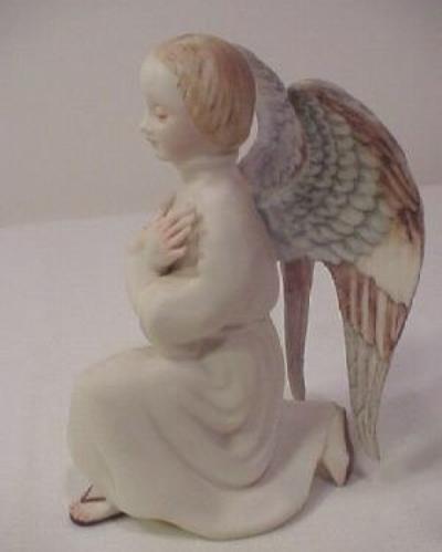 KNEELING ANGEL ca 1950s 1960s in color by Cybis