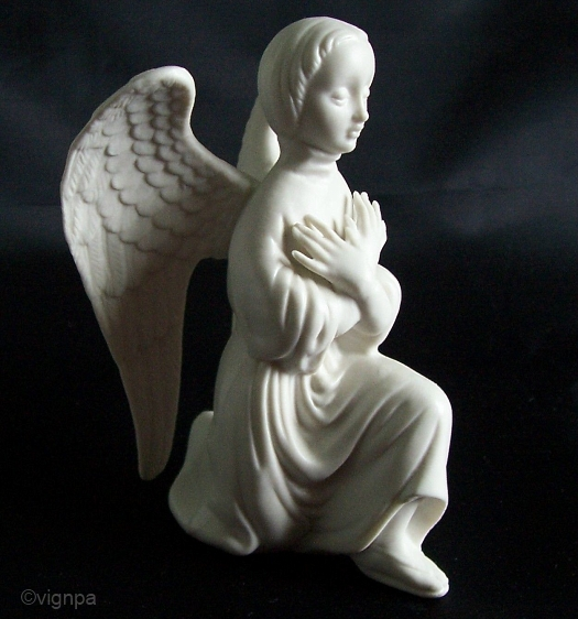 KNEELING ANGEL ca 1950s 1960s in white bisque by Cybis