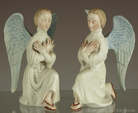 KNEELING ANGELS in color by Cybis view 1