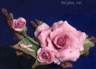 Large RIBBON OF HOPE ROSE by Cybis