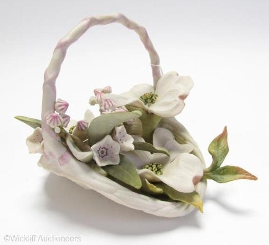MAJESTY flower basket by Cybis
