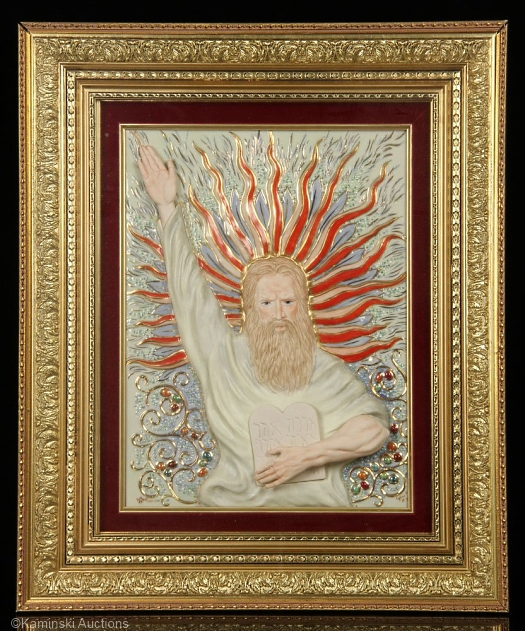 MOSES PORCELAIN PLAQUE by Cybis