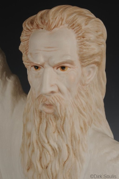 Moses sculpture by Cybis detail