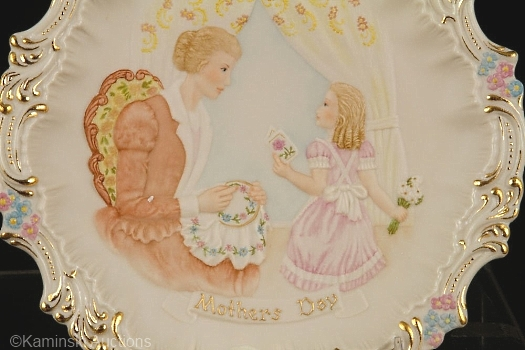 Mothers Day Plate detail
