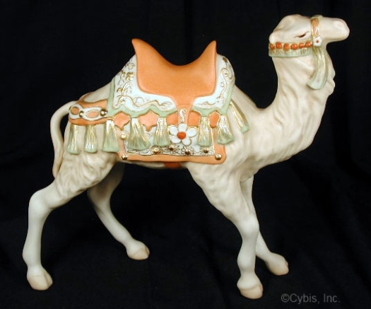 NATIVITY CAMEL II circa late 1980s in color by Cybis